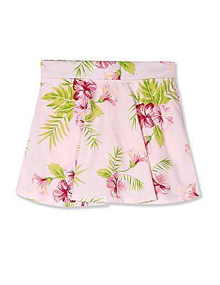 The Children's Place Pink Girls Matchables Print Knit Skort