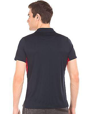 Arrow Sports Colour Block Patterned Polo Shirt