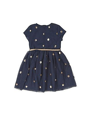 Cherokee Girls Sequin Fit And Flare Dress