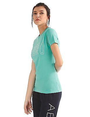 Aeropostale Regular Fit Brand Appliqued T-Shirt