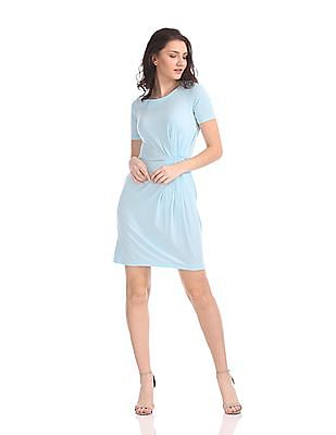 Gant Pleated Waist Draped Dress
