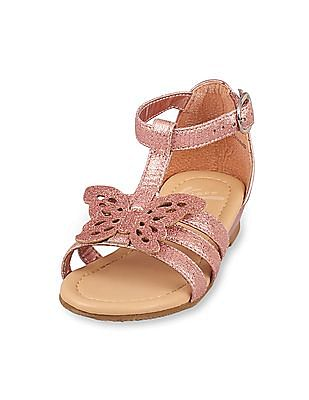 The Children's Place Toddler Girl Butterfly Gladiator Perry Sandal