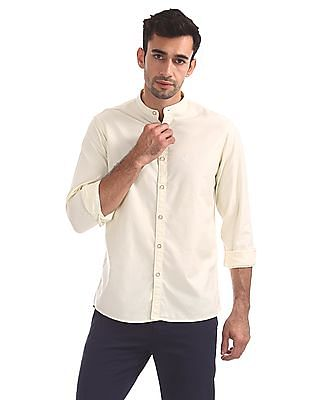 Arrow Sports Slim Fit Mandarin Shirt