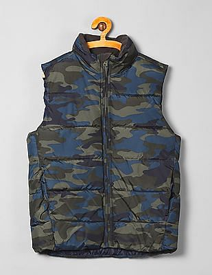GAP Boys Camo Print Padded Jacket
