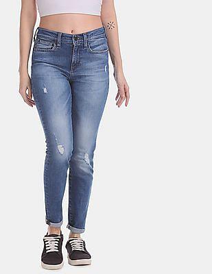 GAP Blue Skinny Fit Washed Jeans