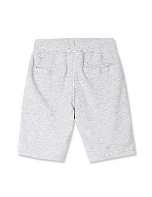 U.S. Polo Assn. Kids Boys Drawstring Waist Heathered Shorts