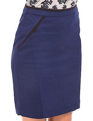 Cherokee Solid Cotton Spandex Pencil Skirt