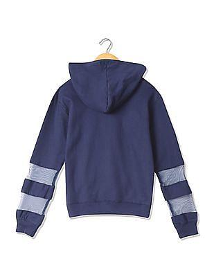 Cherokee Girls Hooded Aplliqued Sweatshirt