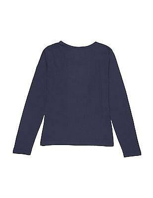 Cherokee Girls Long Sleeve Foil Print T-Shirt