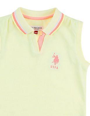 U.S. Polo Assn. Kids Girls Sleeveless Polo Shirt