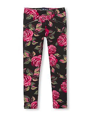 The Children's Place Girls Rose Print Jeggings