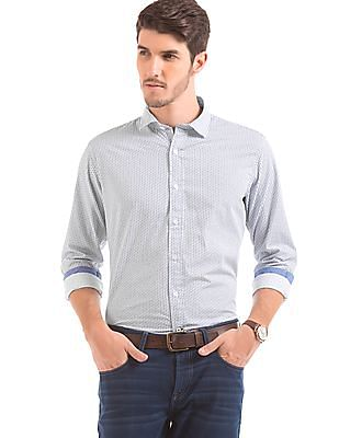 Nautica Anchor Print Slim Fit Shirt