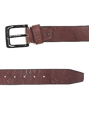 Flying Machine Debossed Leather Belt