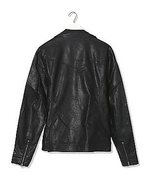 Ed Hardy Metallic Trim Biker Jacket