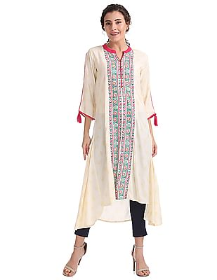 Anahi High Low Hem Printed Kurta