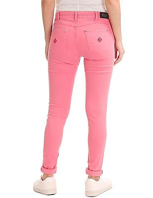 Elle Regular Fit Solid Trousers