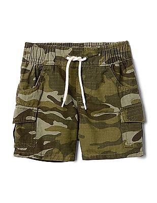 GAP Baby Green Camo Cargo Shorts