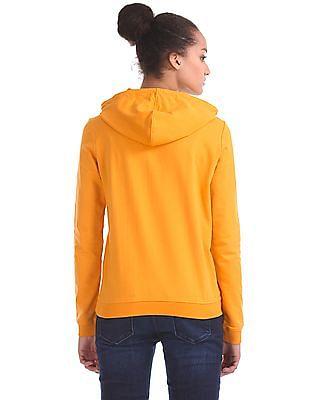 Flying Machine Women Long Sleeve Hooded Sweatshirt