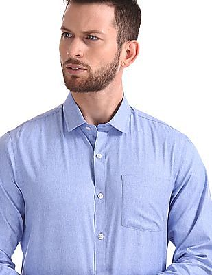 Excalibur Long Sleeve Semi Cutaway Collar Shirt - Pack Of 2