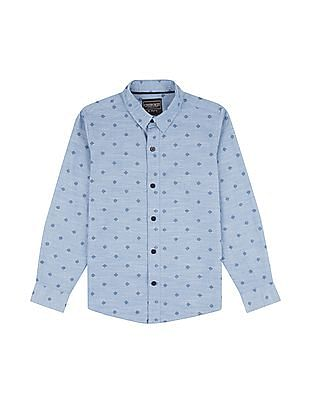 Cherokee Boys Patterned Weave Cotton Shirt