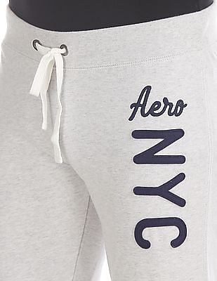 Aeropostale Grey Heathered Fleece Joggers