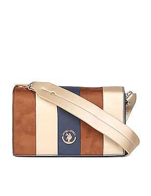 U.S. Polo Assn. Women Colour Blocked Hand Bag
