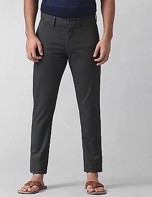 True Blue Slim Fit Micro Print Trousers