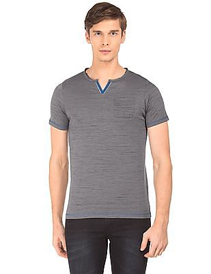 Roots by Ruggers Notch Neck Heathered T-Shirt