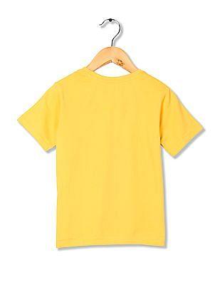 FM Boys Crew Neck Printed T-Shirt