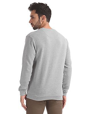 Izod Crew Neck Textured Sweatshirt