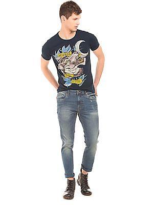 Ed Hardy Printed Regular Fit T-Shirt