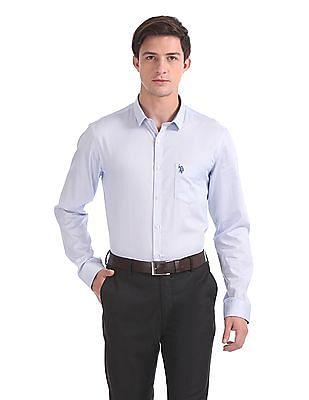 USPA Tailored Tailored Regular Fit Printed Shirt