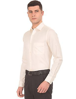 Arrow Patterned Weave Regular Fit Shirt