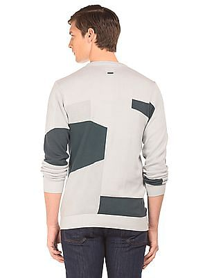 Flying Machine Colour Block Slim Fit Sweater