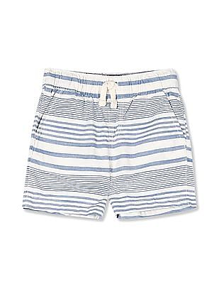 The Children's Place Toddler Boy Striped Pull-On Woven Jogger Shorts
