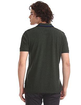 U.S. Polo Assn. Green Grindle Pique Polo Shirt