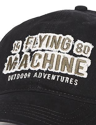 Flying Machine Brand Appliqued Cotton Cap