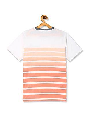 The Children's Place Pink Boys Short Sleeve Pocket Stripe Tee