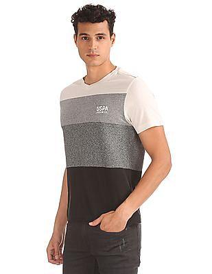 U.S. Polo Assn. Denim Co. Muscle Fit Colour Block T-Shirt
