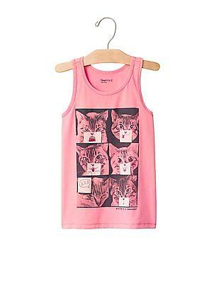 GAP Girls Pink Graphic Tank