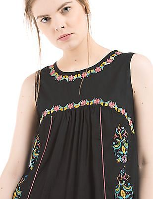 Bronz Embroidered Front Tunic