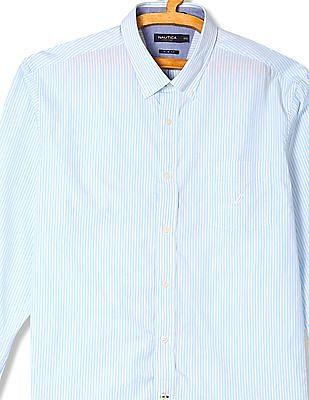 Nautica Banker Stripe Long Sleeve Shirt