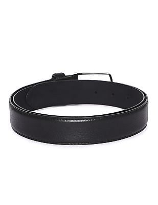 Arrow Textured Leather Belt