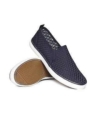 Aeropostale Textured Canvas Slip On Shoes