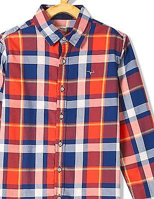 FM Boys Boys Long Sleeve Check Shirt