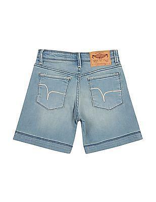 FM Boys Boys Faded Denim Shorts