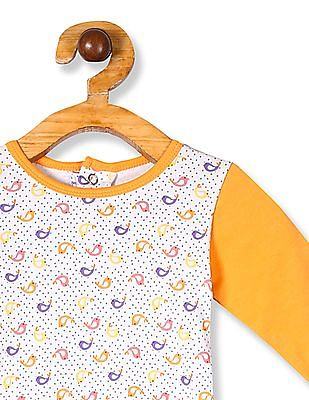 Donuts White Girls Printed Knit Top