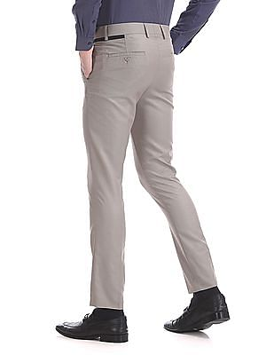 Excalibur Super Slim Fit Mid Rise Trousers