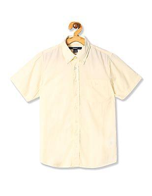 Gant Boys Malibu Madras Short Sleeve Shirt
