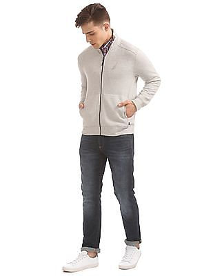 Nautica High Neck Zip Up Sweatshirt